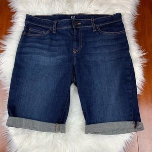 Gap Denim Dark Bermuda Jean Shorts 29